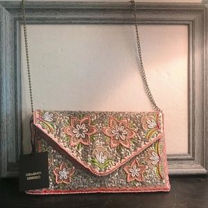 CLEMENTS RIBEIRO FLORAL BEADED CROSSBODY NWT